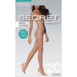 Secret Collection Silky Pantyhose with Reinforced Panty & Toe 1.0 Pair NUDE found on Bargain Bro from Beauty Boutique CA for USD $5.46