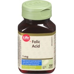 Life Brand Folic Acid 1mg 100.0 TAB found on Bargain Bro India from Beauty Boutique CA for $5.77