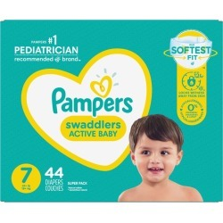 Pampers Pampers Swaddlers Active Baby Diaper Size 7 44 Count 44.0 EA