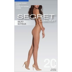 Secret Collection Silky Pantyhose with Invisible Control Panty & Sandalfoot 1.0 Pair BLACK found on Bargain Bro from Beauty Boutique CA for USD $4.99