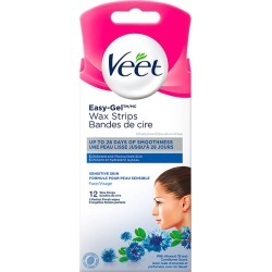Veet Veet Easy-Gel Precision Wax Strips Face Sensitive Skin, 12 ct + 2 wipes 12.0 Count found on MODAPINS from Beauty Boutique CA for USD $9.08