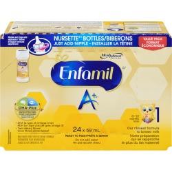 Enfamil Enfamil A+ Baby Formula Ready to Feed Nursette Bottles 24 pack 59.0 ML