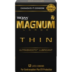 Trojan Magnum Thin Ultrasmooth Large Size Lubricated Condoms 12.0 Count found on Bargain Bro India from Beauty Boutique CA for $10.32