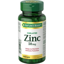 Natures Bounty Zinc Supplement, Helps Maintain Immune Function, 50mg 100.0 Count found on Bargain Bro India from Beauty Boutique CA for $6.19