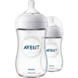 Avent Avent Natural Baby Bottles, Clear, 9oz, 2pk, SCF013/27 2.0 ea
