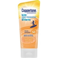 Coppertone Kids Clear Sunscreen Lotion with Sparkles Spf 50 148.0 mL