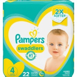 Pampers Pampers Swaddlers Diapers Size 4 22 Count 1.0 ea