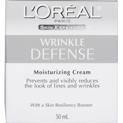 Wrinkle Defense Anti-Aging Cream Day Moisturizer, with Soy Protein