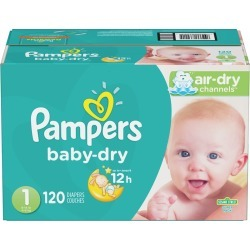 Pampers Pampers Baby-Dry Diapers Size 1 120 Count 1.0 ea