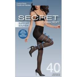 Secret Collection Support Pantyhose with Medium Support Leg, Control Panty & Reinforced Toe 1.0 Pair BLACK found on Bargain Bro from Beauty Boutique CA for USD $6.37