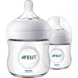 Avent Avent Natural Baby Bottles, Clear, 4oz, 2pk, SCF010/27 2.0 ea