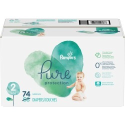 Pampers Pure Protection Diapers Size 2 74 Count 74.0 Count