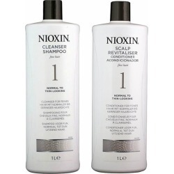 Nioxin Nioxin 1 Litre - System 1 Duo - Normal To Thin 1.0 Set found on Bargain Bro from Beauty Boutique CA for USD $30.97