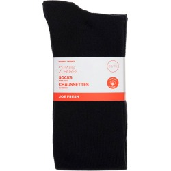 Joe Fresh Women basic knee high, blk 2.0 Pack found on Bargain Bro from Beauty Boutique CA for USD $6.25