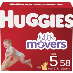 Huggies Huggies Little Movers Baby Diapers, Size 5, 58 Ct 58.0 Count