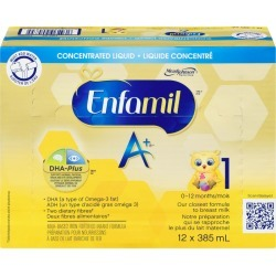 Enfamil Enfamil A+ Baby Formula Concentrated Liquid Cans 12 Pack 385.0 PK
