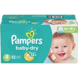 Pampers Pampers Baby-Dry Diapers Size 4 92 Count 4.0 ea
