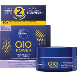 Nivea Q10 Power Anti-Wrinkle + Fragrance-Free Night Moisturizer for Sensitive Skin 50.0 mL