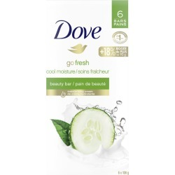 Dove Dove Refreshing Beauty Bar skin care for Revitalized Skin Cucumber and Green Tea 106 g 6 count 637.0 G