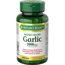 Natures Bounty Garlic Pills and Herbal Health Supplement, Helps Maintain Cardiovascular Health, 2000mg 200.0 Count found on Bargain Bro India from Beauty Boutique CA for $10.32