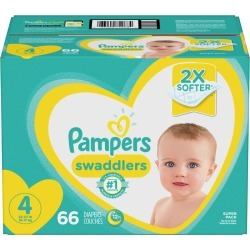 Pampers Pampers Swaddlers Diapers Size 4 66 Count 1.0 ea