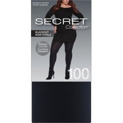 Secret Collection Plus Size Super Opaque 80 Denier Supreme Comfort Tights 1.0 Pair BLACK found on Bargain Bro from Beauty Boutique CA for USD $10.92
