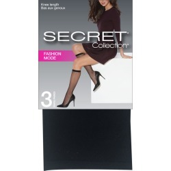 Secret Collection Fashion Knee Length 3.0 Pair BLACK found on Bargain Bro from Beauty Boutique CA for USD $4.99