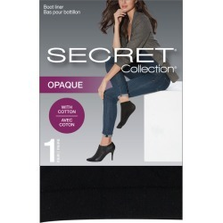 Secret Collection Cotton Boot Liner 1.0 Pair BLACK found on Bargain Bro from Beauty Boutique CA for USD $3.64
