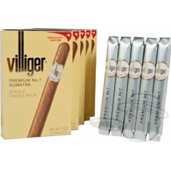 Villiger Premium No. 7 Sumatra - 4 x 38-Small Packs: 25 Cigarillos