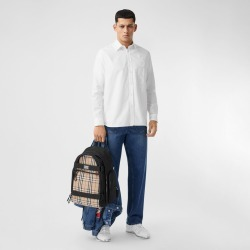 Burberry London Print Cotton Oxford Oversized Shirt, Size: 41, White found on MODAPINS from Burberry for USD $490.00