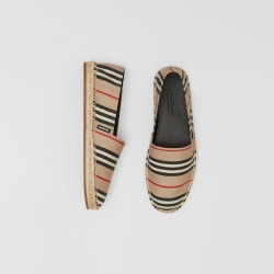 Burberry Icon Stripe Espadrilles, Size: 43, Beige found on Bargain Bro from Burberry for USD $357.20