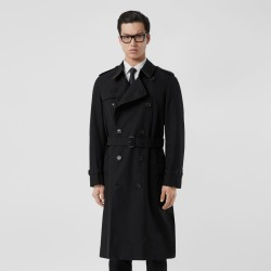 Burberry The Long Chelsea Heritage Trench Coat, Size: 38, Black found on MODAPINS from Burberry for USD $1990.00