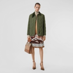 Burberry Diamond Quilted Thermoregulated Barn Jacket, Green found on MODAPINS from Burberry for USD $950.00