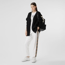 Burberry Vintage Check Detail Cotton Jogging Pants, Size: XS, White found on Bargain Bro from Burberry for USD $478.80