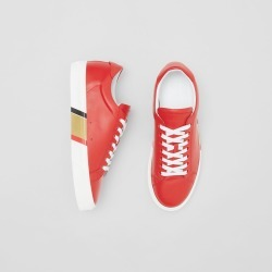Burberry Bio-based Sole Leather Sneakers, Size: 42.5, Red found on Bargain Bro from Burberry for USD $410.40