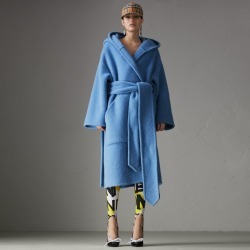 Burberry Alpaca Wool Blend Dressing Gown Coat, Size: 02 found on MODAPINS from Burberry for USD $1520.00