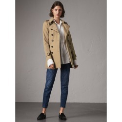 Burberry The Chelsea - Short Trench Coat, Size: 06, Yellow found on MODAPINS from Burberry for USD $1690.00