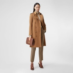 Burberry Cashmere Trench Coat, Size: 04, Brown