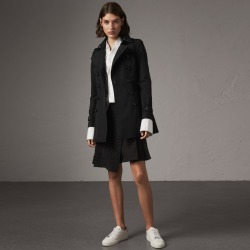 Burberry The Chelsea - Short Trench Coat, Size: 02, Black found on MODAPINS from Burberry for USD $1690.00