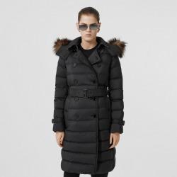 Burberry Detachable Hood Down-filled Coat, Size: M, Black
