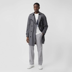 Burberry The Mid-length Chelsea Heritage Trench Coat, Size: 40, Grey found on MODAPINS from Burberry for USD $1990.00