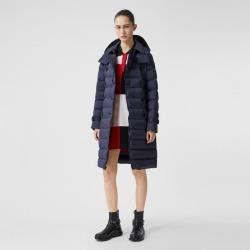 Burberry Detachable Hood Down-filled Coat, Size: XL, Blue