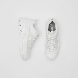 Burberry Nylon and Suede Arthur Sneakers, Size: 40.5, White found on Bargain Bro from Burberry for USD $600.40