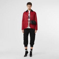 Burberry Diamond Quilted Barn Jacket, Red found on MODAPINS from Burberry for USD $480.00