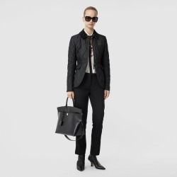 Burberry Monogram Motif Quilted Riding Jacket, Black found on MODAPINS from Burberry for USD $750.00