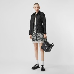 Burberry Monogram Motif Diamond Quilted Jacket, Black found on MODAPINS from Burberry for USD $750.00