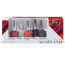 OPI Scotland Infinite Shine 3 Step Nail Polish Mini x 5 - Limited Edition