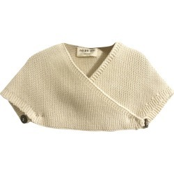 Napaani Lucia Knit Cape, Cotton Cream (Multicolor, Size 4-6Y) Maisonette found on Bargain Bro Philippines from maisonette.com for $88.99