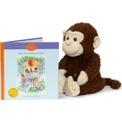 Kids Educational Toys Boodles Plush Toy & What Does a Family Look? Like Book Your Buddy Boodles Maisonette found on Bargain Bro India from maisonette.com for $38.95