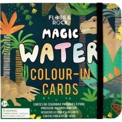 Dinosaur Magic Water Colour-In Cards by Floss & Rock Kids Toys Maisonette found on Bargain Bro India from maisonette.com for $16.00